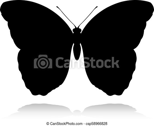 Butterfly Insect Animal Silhouette - csp58966828