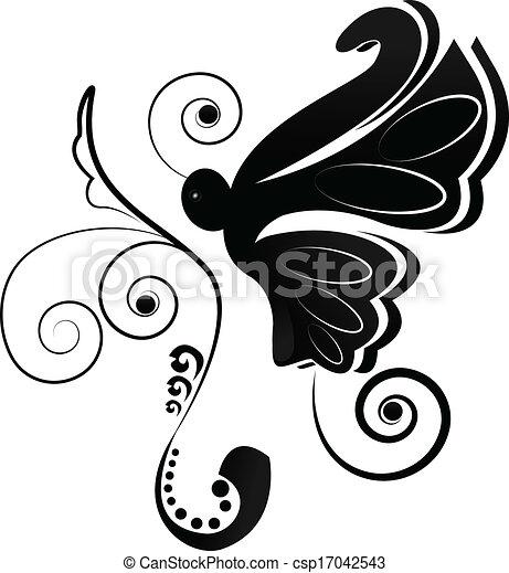 Butterfly logo - csp17042543