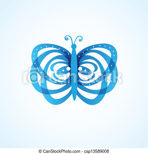 Butterfly on background - csp13589008