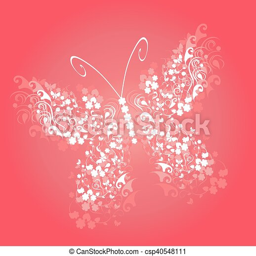 butterfly pink - csp40548111