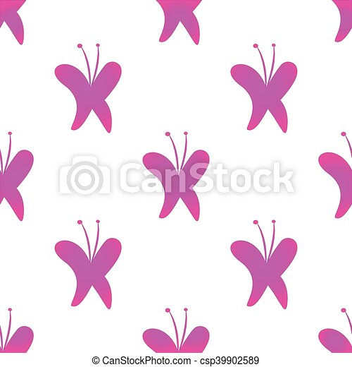 Butterfly seamless background vector - csp39902589