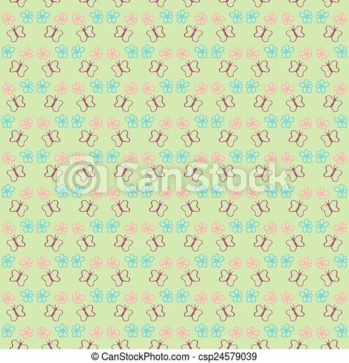 Butterfly seamless pattern for your design - csp24579039