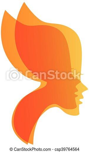Butterfly Sexy Women Faces Logo Vec
