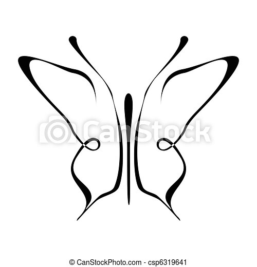 Butterfly tattoo - mariposa - csp6319641