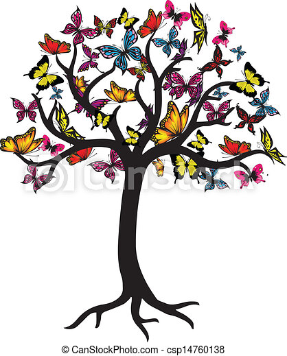 butterfly tree vector graphic rh canstockphoto com matlab eps vector graphics eps vector graphics free download