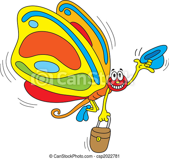 colorful globetrotter butterfly vector clip art search rh canstockphoto com