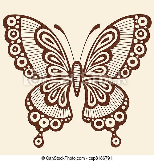 Butterfly Vector Design Element - csp8186791