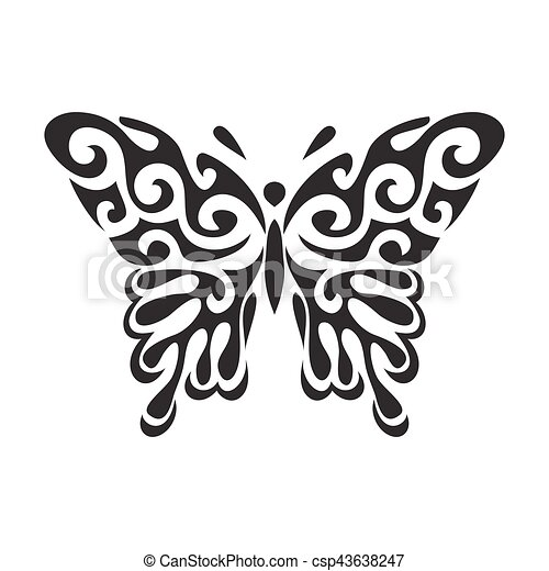 Butterfly vector icon - csp43638247