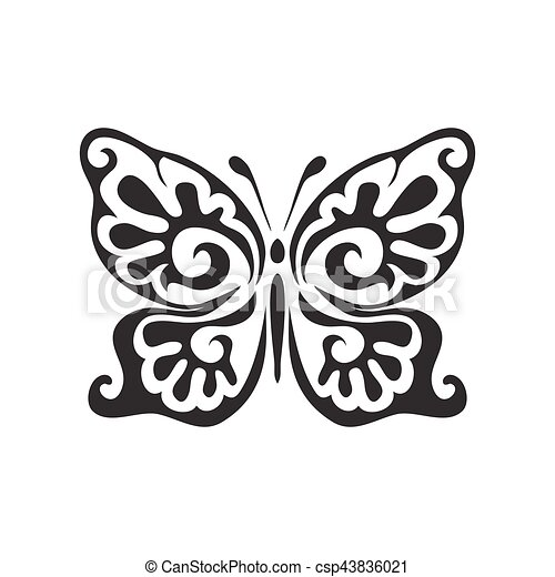 Butterfly vector icon - csp43836021