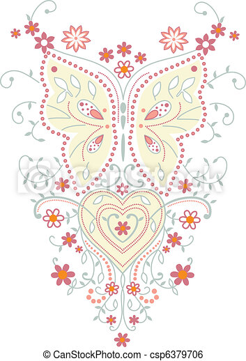 Butterfly vector illustration  - csp6379706