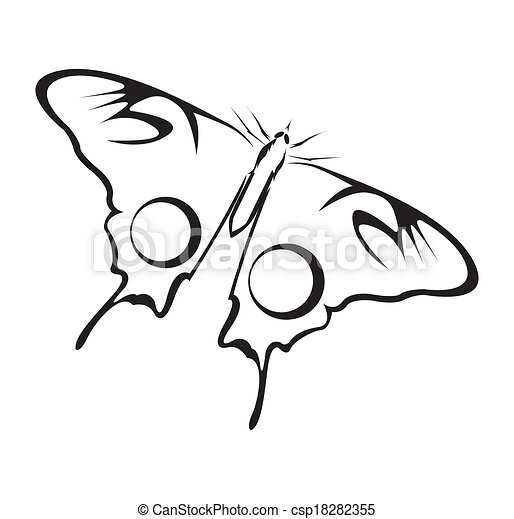 Butterfly Vector Illustration - csp18282355