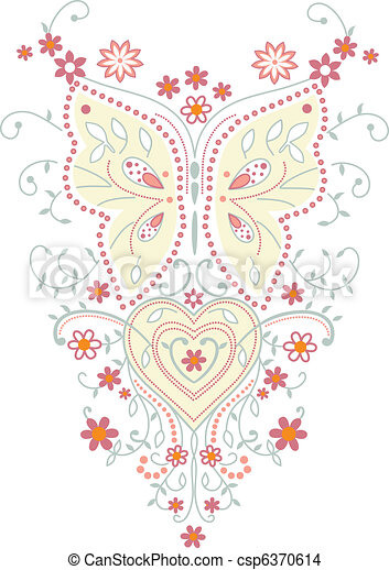 Butterfly vector illustration  - csp6370614