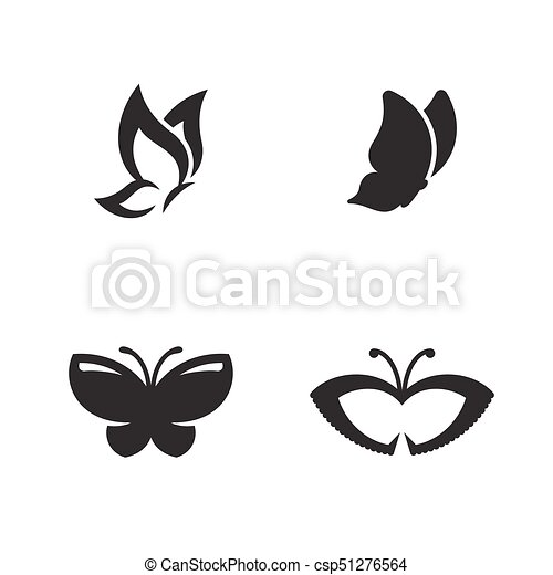 butterfly vector logo black icons on a white background rh canstockphoto com butterfly vector in stencil printing butterfly vector free