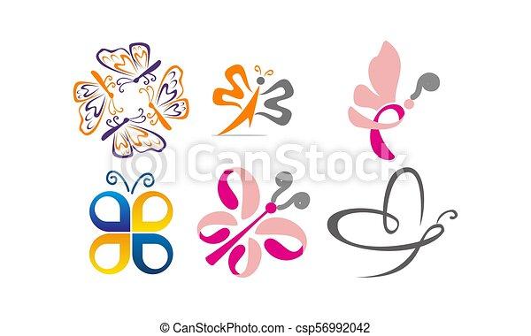 Butterfly Vector Template Set