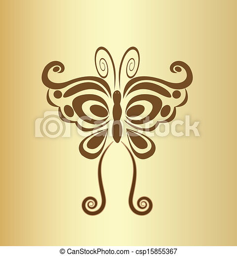 Butterfly vintage logo vector - csp15855367