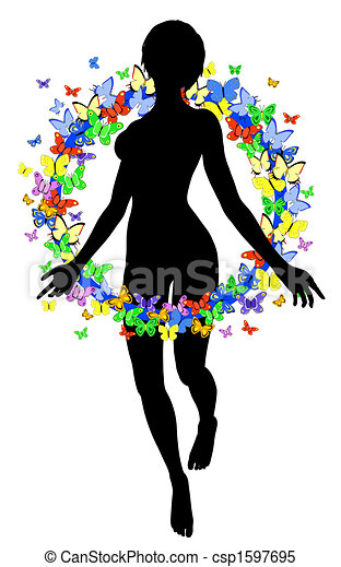 Butterfly woman - csp1597695