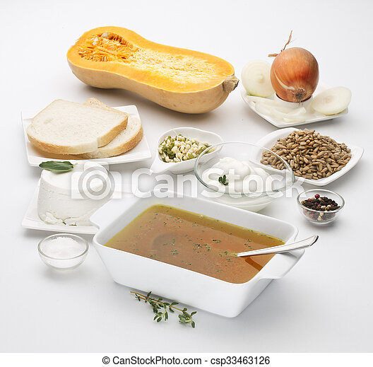 Butternut squash Cucurbita moschata - csp33463126