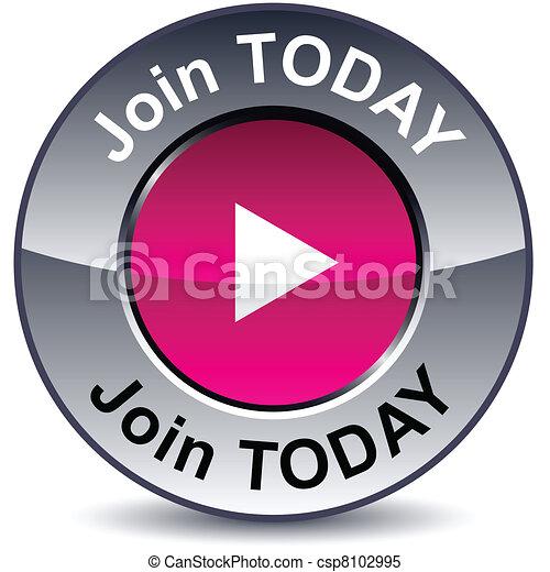 button., ラウンド, 今日, 参加しなさい - csp8102995