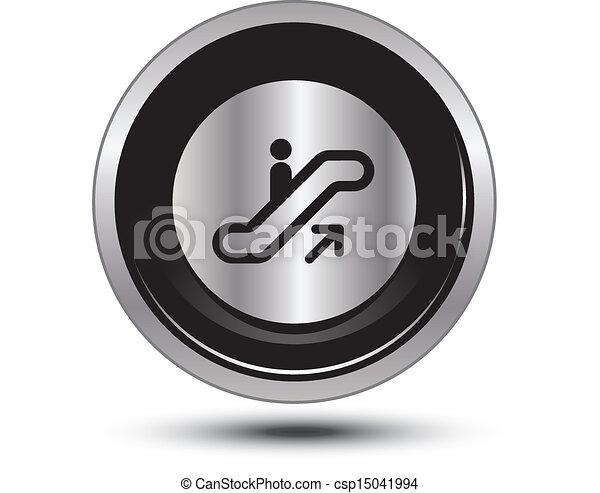 button aluminum - csp15041994