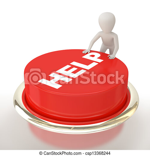 ¡Ayude a botón! - csp13368244