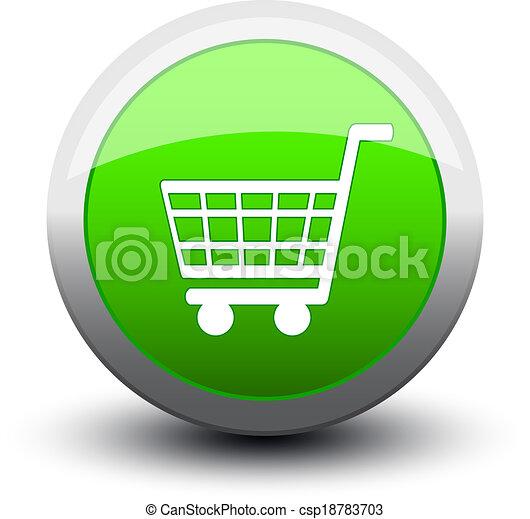 button basket 2d green [Converted] - csp18783703