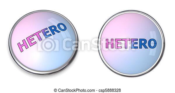Button Blue-Pink Word Hetero - csp5888328