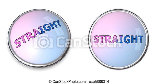 Button Blue-Pink Word Straight - csp5888314