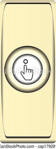 Button brass bell - csp17929130