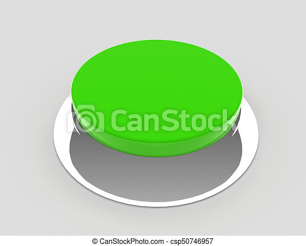 button concept icon . 3d rendered illustration - csp50746957