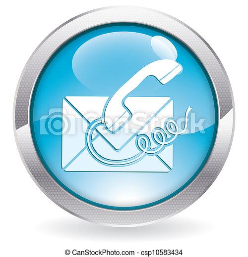 Button Contact Us - csp10583434