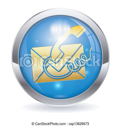 Button Contact Us - csp13626673
