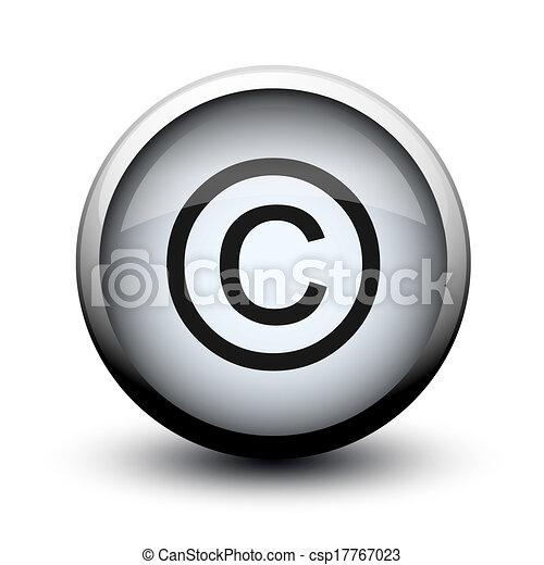 button copyright 2d - csp17767023