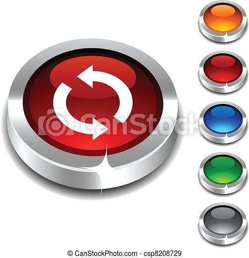 button., felfrissít, 3 - csp8208729