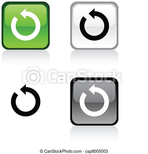 button., felfrissít - csp8005003