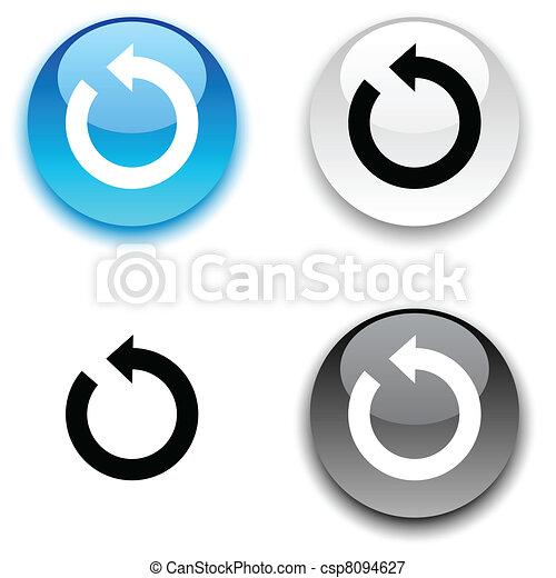 button., felfrissít - csp8094627