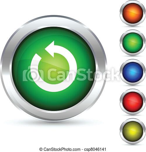 button., felfrissít - csp8046141