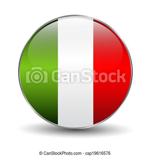 Button flag of Italy - csp19616576