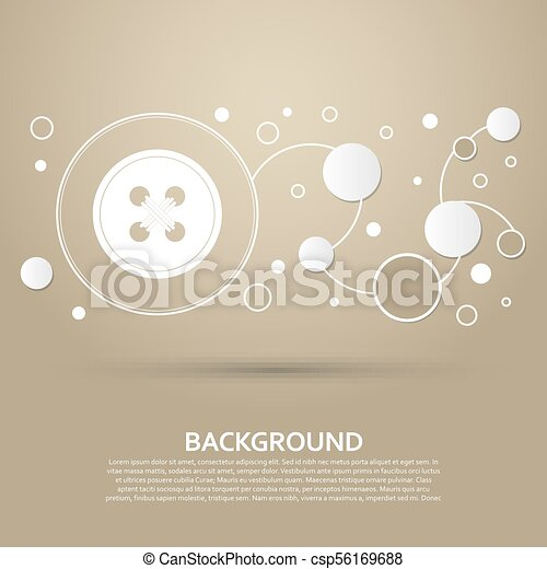 button for clothes icon on a brown background with elegant style and modern design infographic. Vector - csp56169688