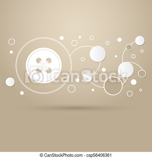button for clothes icon on a brown background with elegant style and modern design infographic. - csp56406361