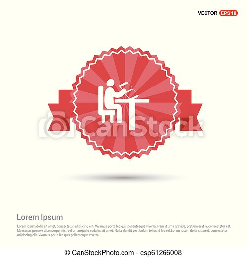 button icon - Red Ribbon banner - csp61266008