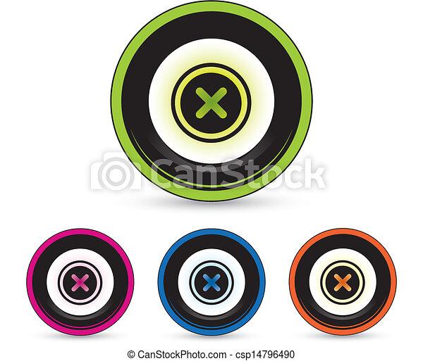 button icon set - csp14796490