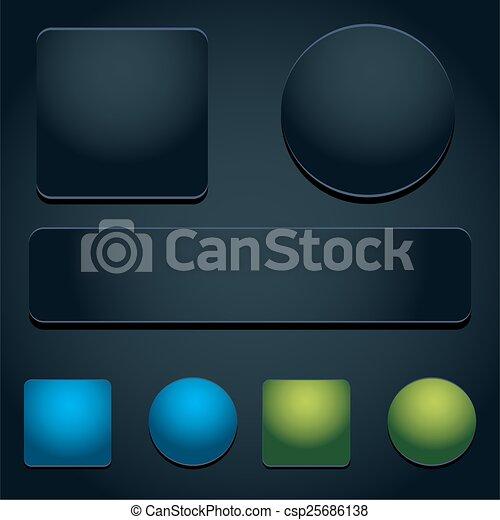 Button Icon Set - csp25686138
