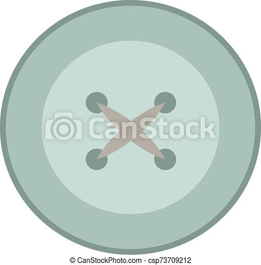 Button, illustration, vector on white background. - csp73709212