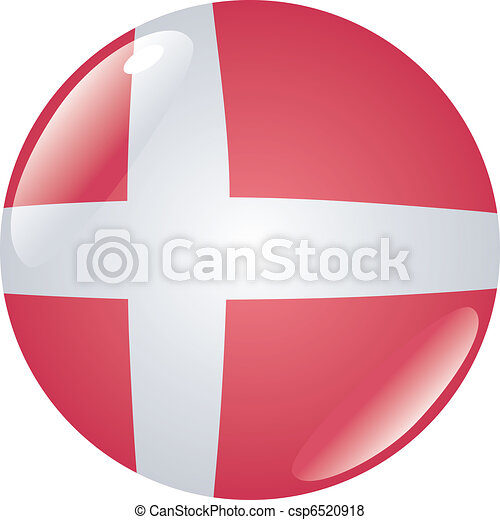 button in colors of Denmark - csp6520918