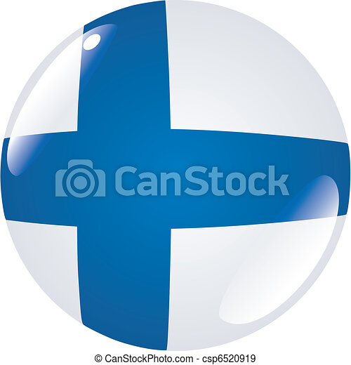 button in colors of Finland - csp6520919