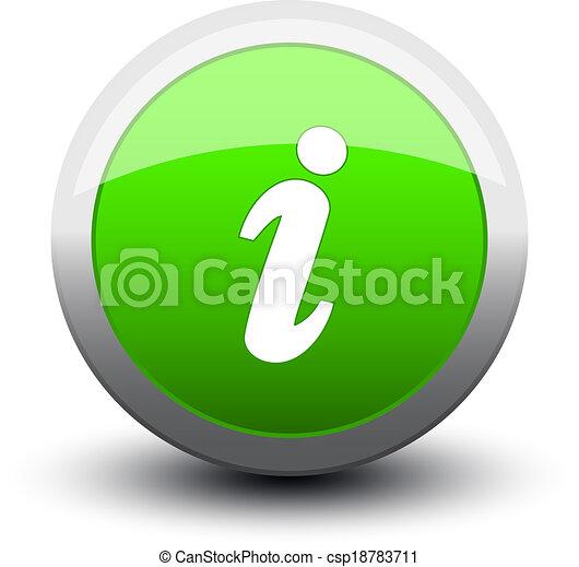 button info 2d green - csp18783711