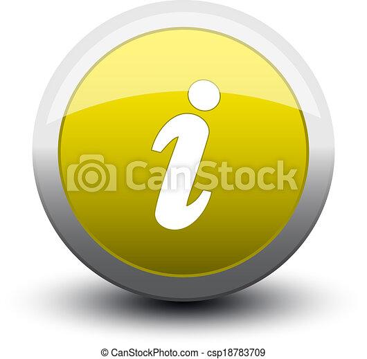 button info 2d yellow - csp18783709