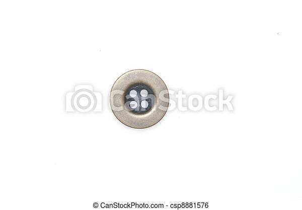 Button isolated on white background - csp8881576