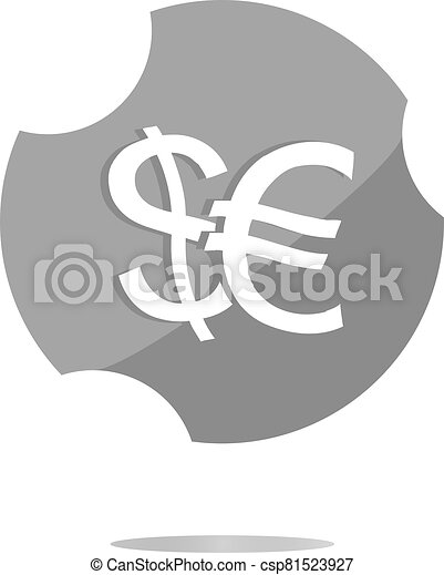 button money sign, icon isolated on white - csp81523927
