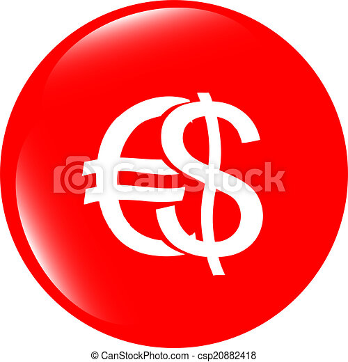 button money sign, icon isolated on white - csp20882418